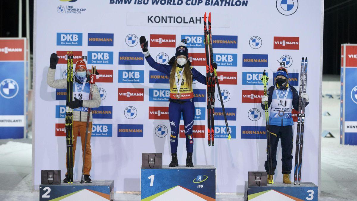 Dorothea Wierew sul podio di Kontiolahti