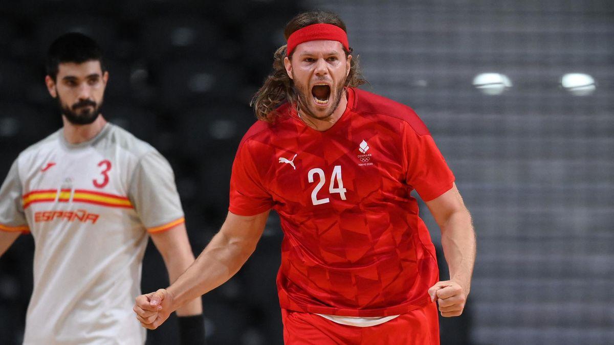 Der dänische Superstar Mikkel Hansen steht mit seiner Mannschaft im olympischen Finale von Tokio