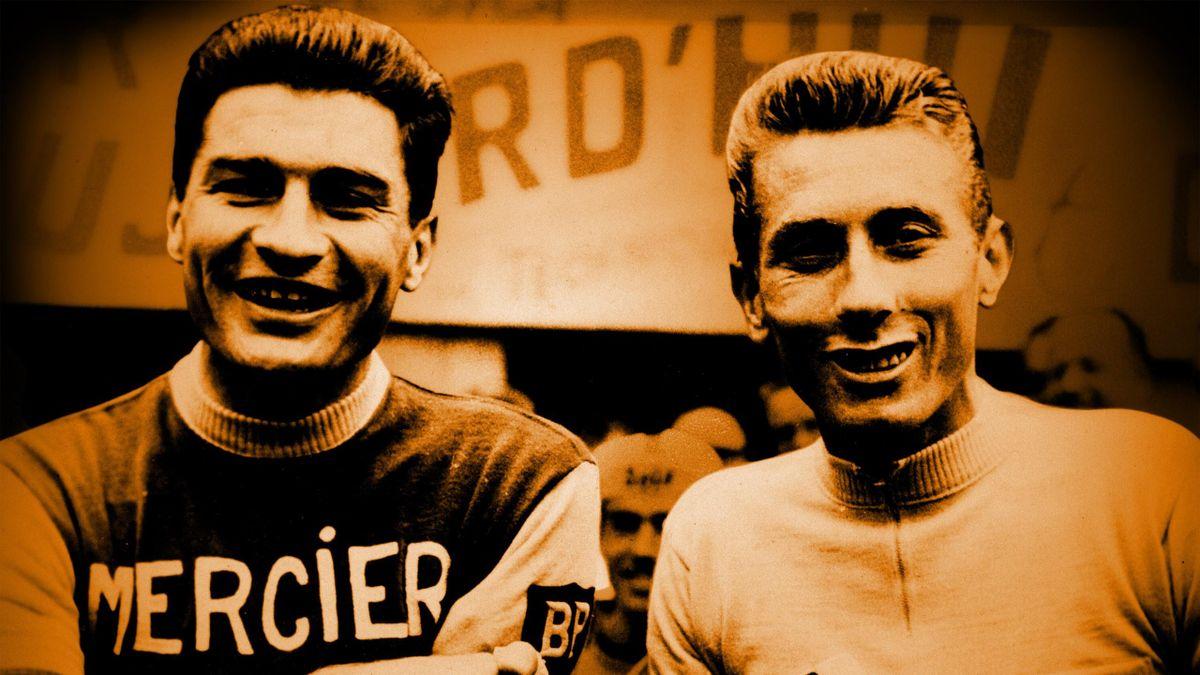 Raymond Poulidor et Jacques Anquetil.