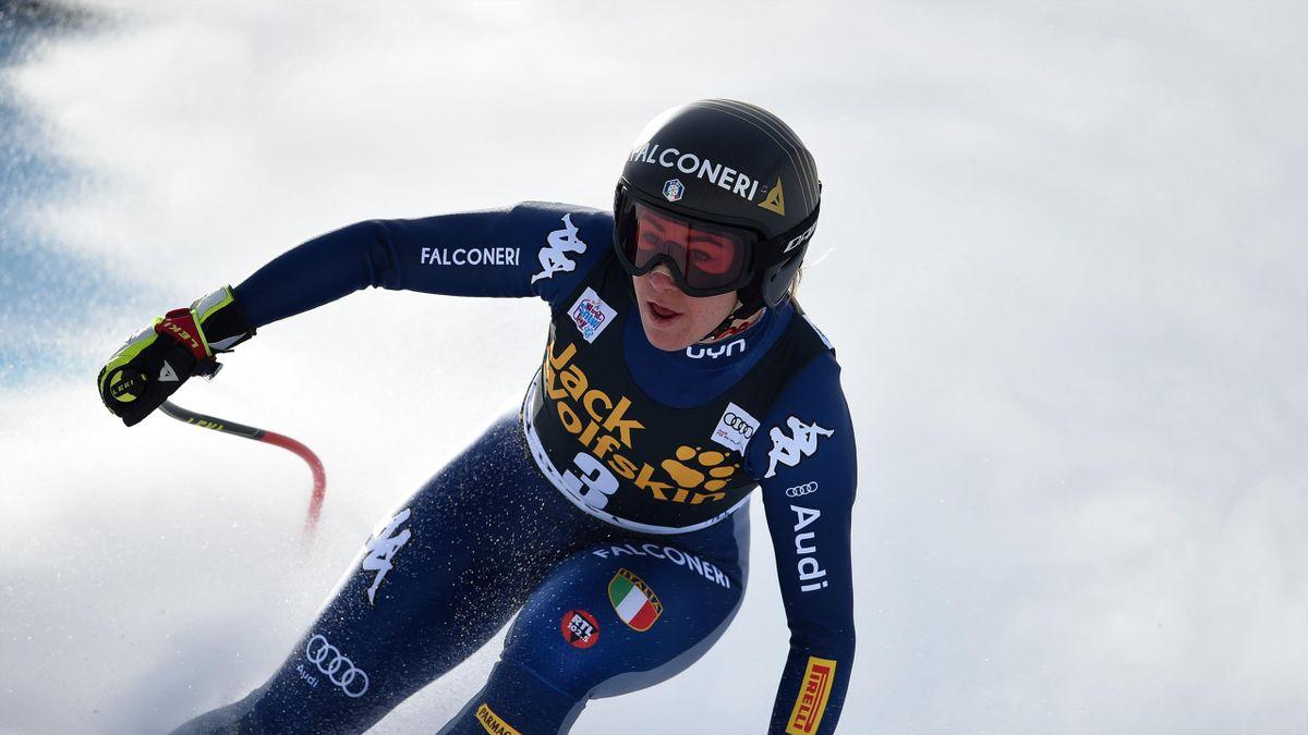 Sofia Goggia lors de la deuxième descente à Val d'Isère