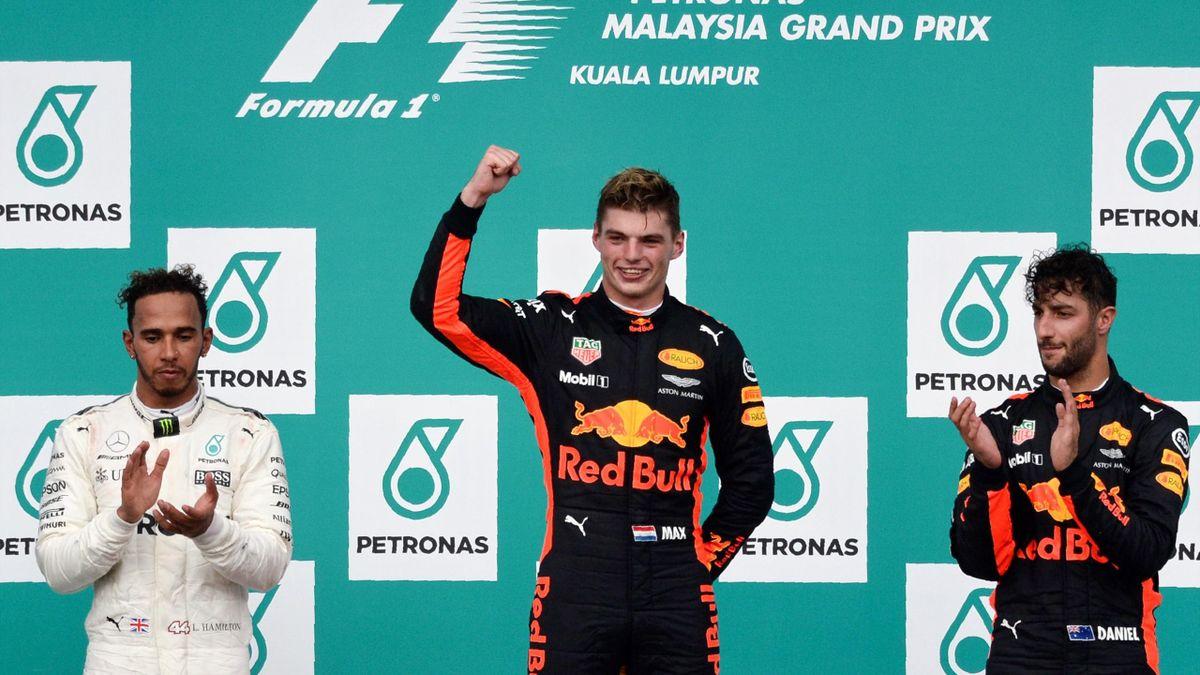 Verstappen - Hamilton - Ricciardo - Malesia 2017