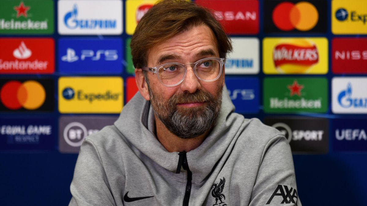 Jurgen Klopp manager of Liverpool during a press conference ahead of the UEFA Champions League Group D stage match between Liverpool FC and Ajax Amsterdam at Anfield