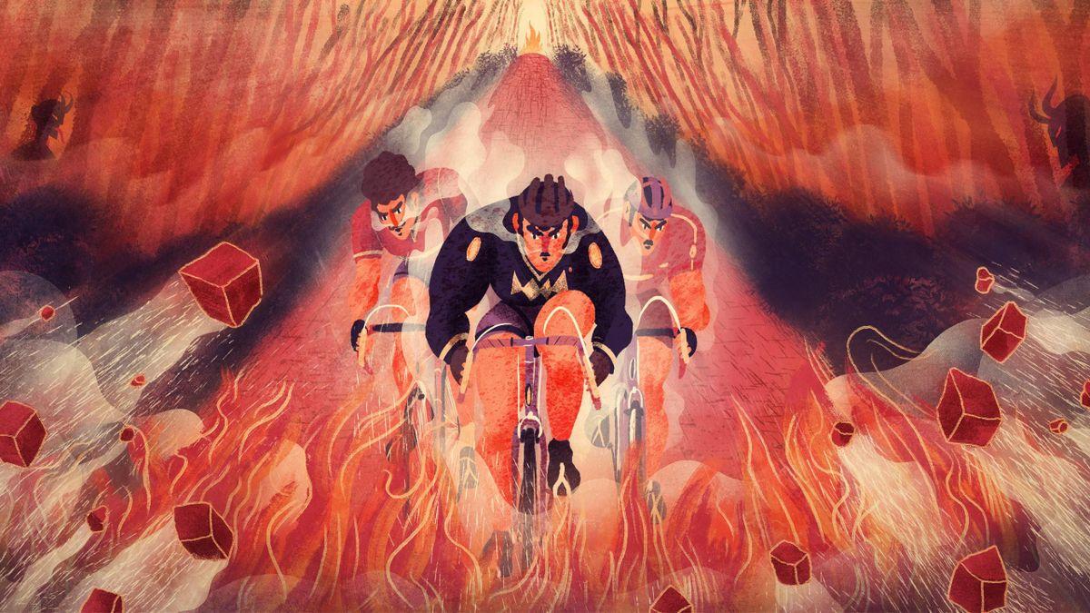La Trouée d'Arenberg, un enfer au coeur de l'Enfer du nord. (Visuel par Tomski & Polanski)