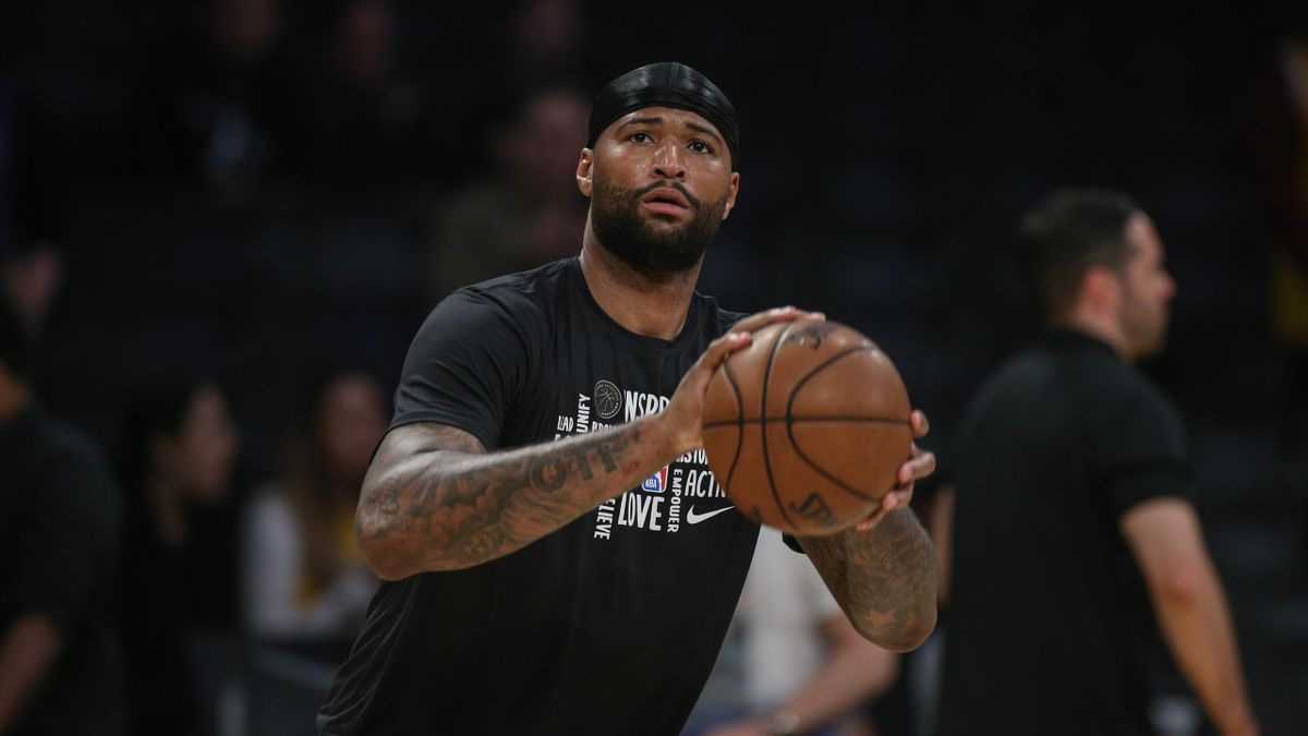 DeMarcus Cousins, avant un match des Lakers au Staples Center, en février 2020