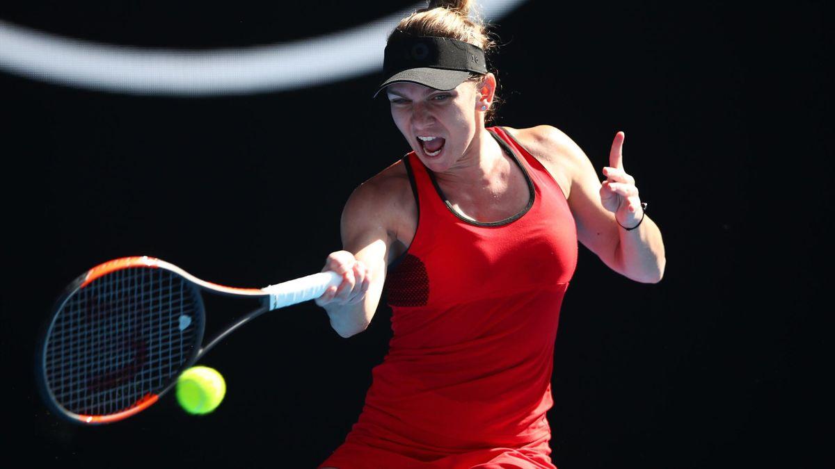 Simona Halep, victorieuse de Angelique Kerber - Demi-finale de l'Open d'Australie 2018