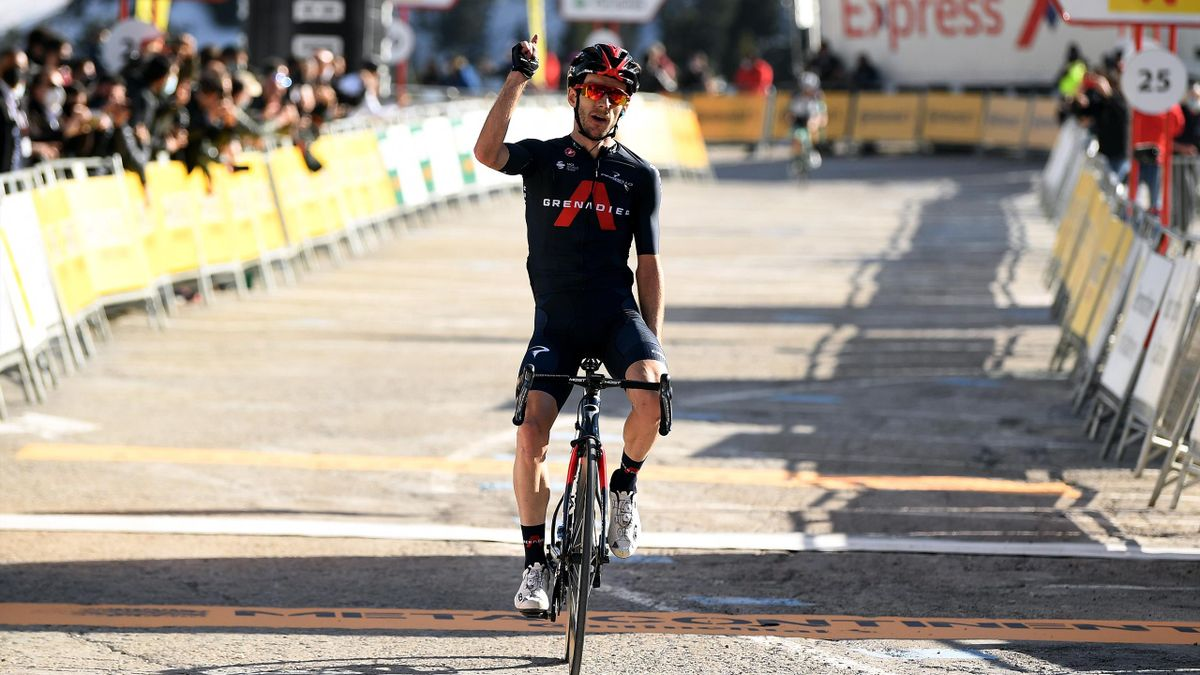 Adam Yates took victory on stage three to claim the overall lead