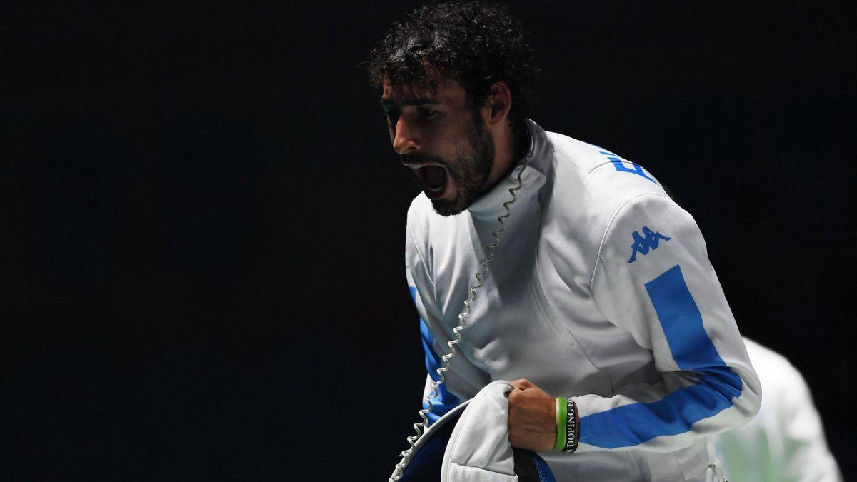 Marco Fichera in azione durante le semifinali delle Olimpiadi di Rio de Janeiro (Getty Images)