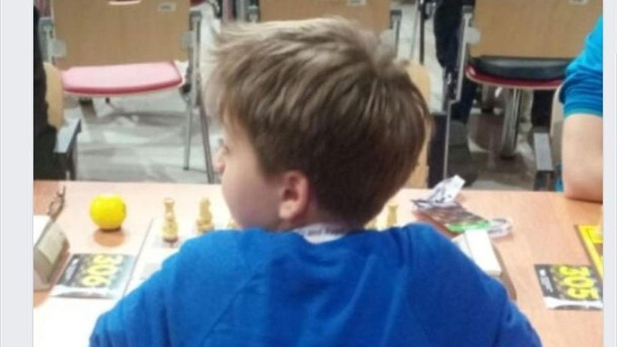 Юный шахматист Роман Ковальский