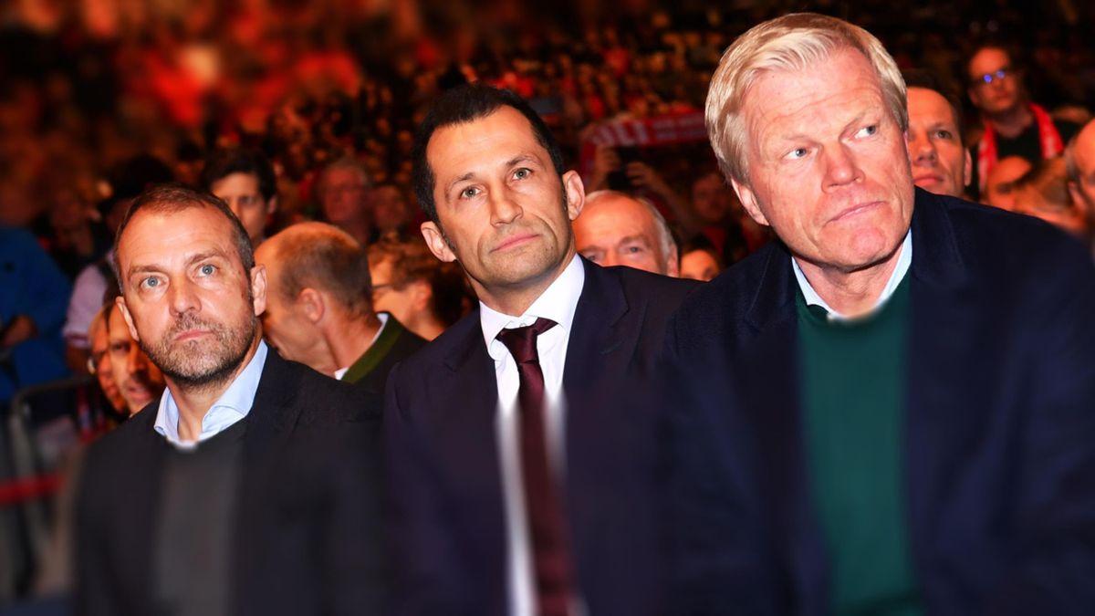 FC Bayern: Flick, Salihamidzic und Kahn (v.l.n.r.)