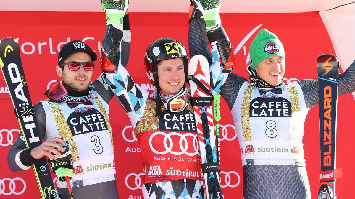 Marcel Hirscher gewinnt Riesenslalom in Alta Badia