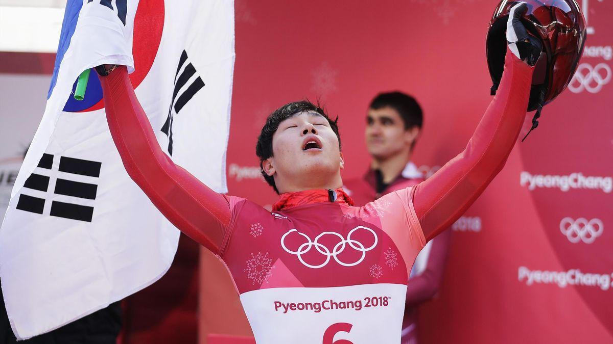 Skeleton bei Olympia 2018: Sungbin Yun gewinnt Gold (Südkorea)