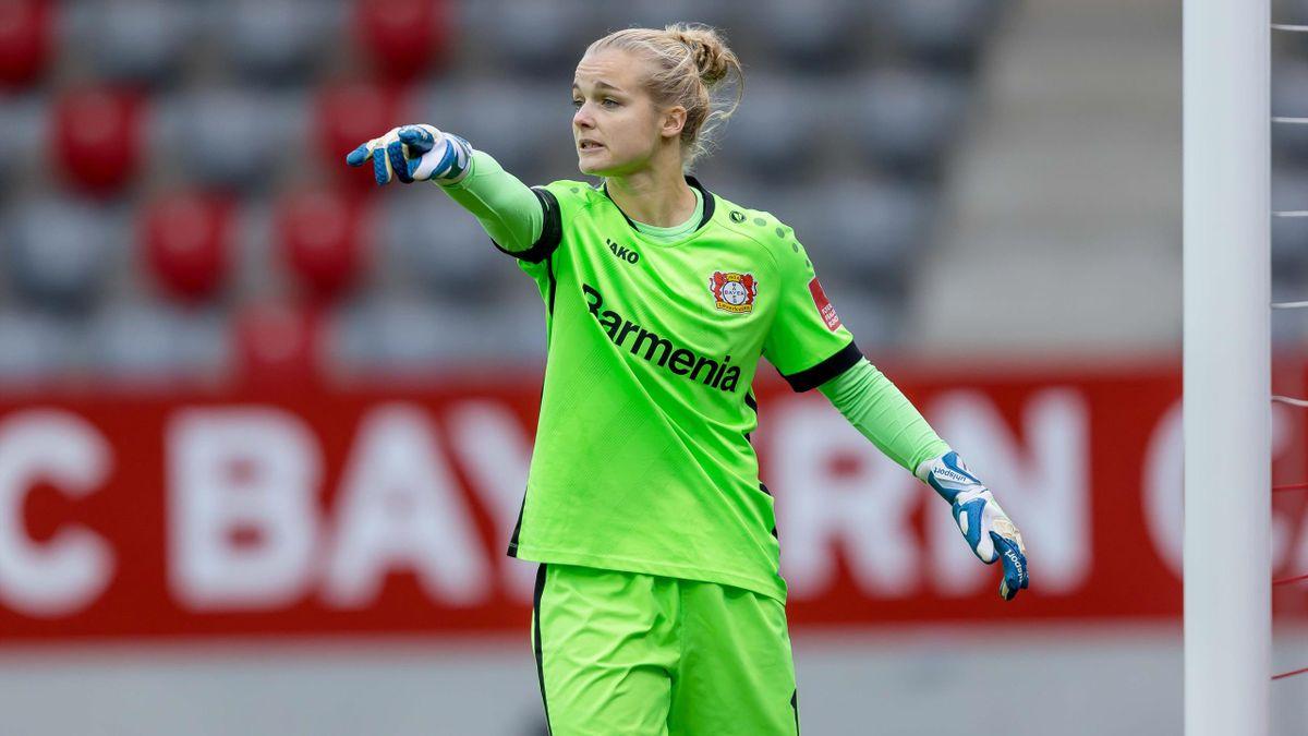 Anna Klink ist Torhüterin bei Bayer 04 Leverkusen. Auch das Spiel ihrer Mannschaft gegen den MSV Duisburg fällt am 13. Spieltag aus
