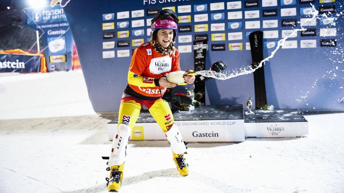 Ramona Hofmeister bejubelt ihren Sieg