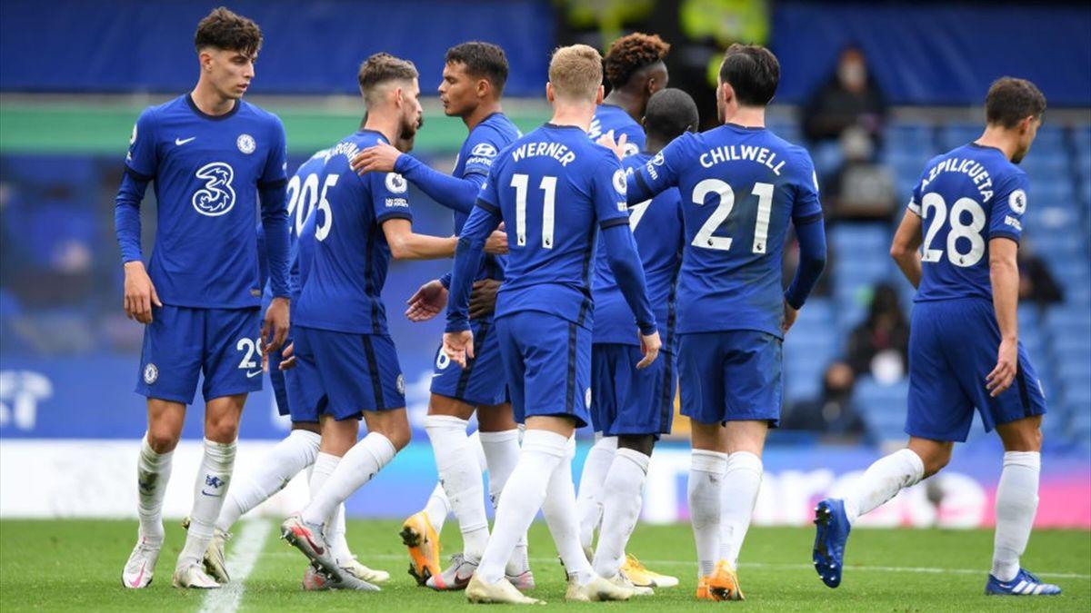 L'esultanza dei giocatori del Chelsea - Chelsea-Crystal Palace Premier League 2020-21