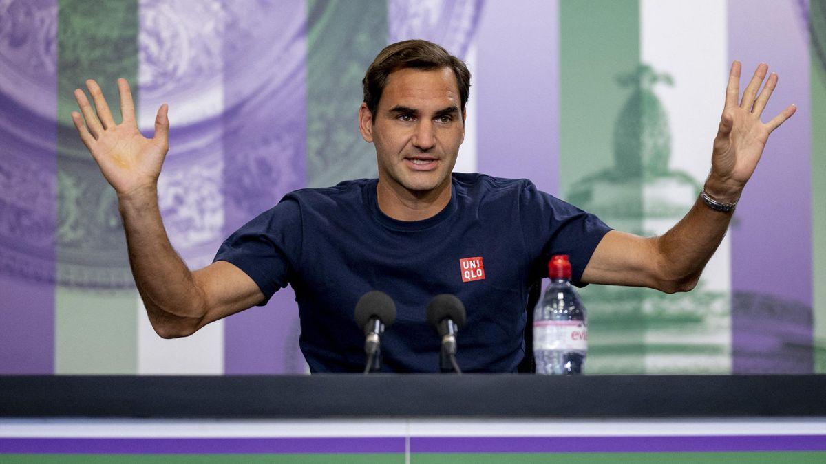 """Roger Federer """"is back"""" à Wimbledon."""