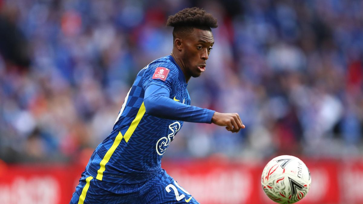 Callum Hudson-Odoi of Chelsea during The Emirates FA Cup Final match between Chelsea and Leicester City