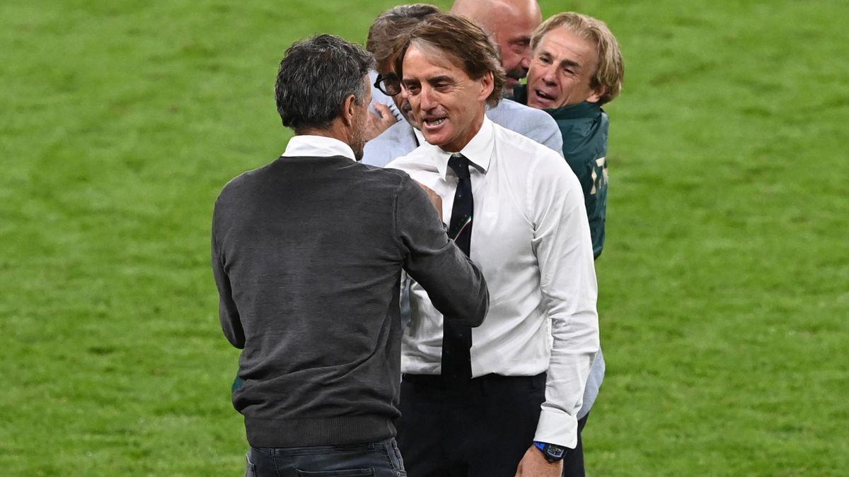 Luis Enrique și Roberto Mancini