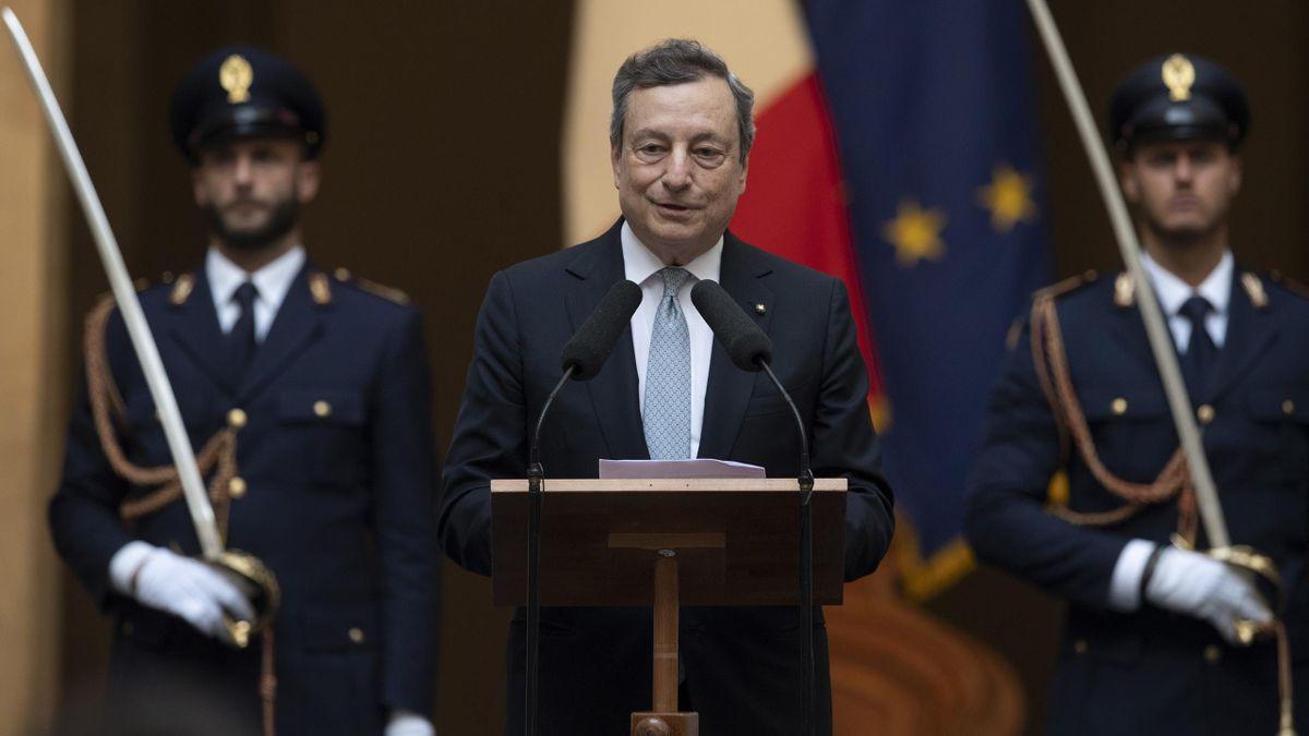 Mario Draghi, presidente del Consiglio, Getty Images