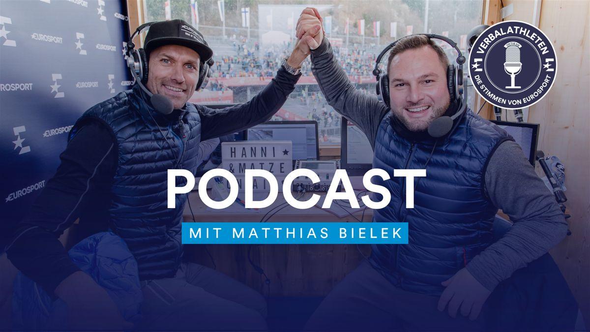 Matthias Bielek (re.) zu Gast bei den Verbalathleten