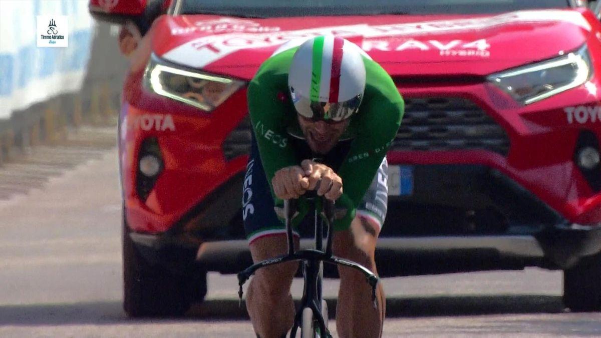 Tirreno- adriatico: Finish of Filippo Ganna in time trial