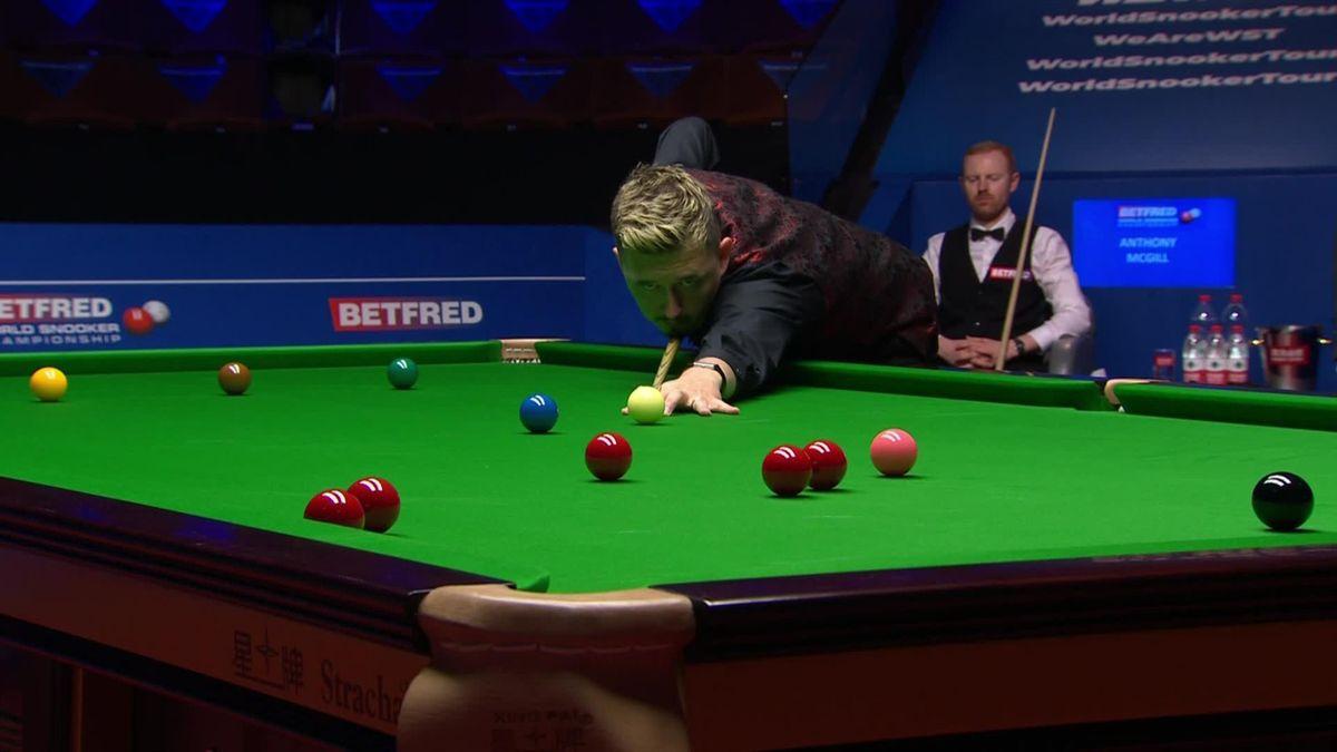 Kyren Wilson makes a century break