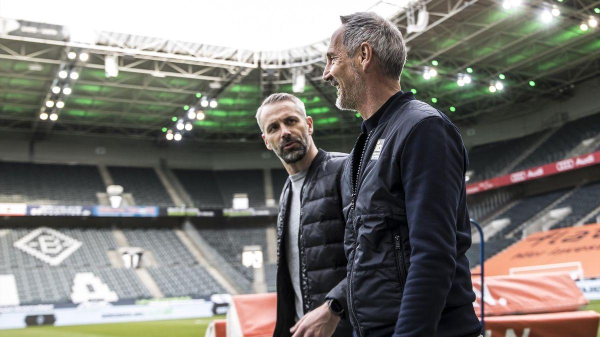Marco Rose (links) und Adi Hütter