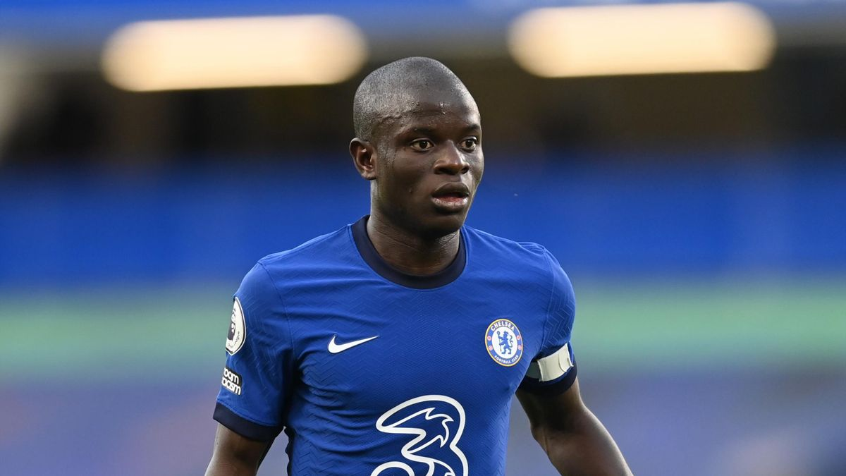 Ngolo Kante of Chelsea of Chelsea during the Premier League match between Chelsea and Liverpool at Stamford Bridge on September 20, 2020 in London, England.