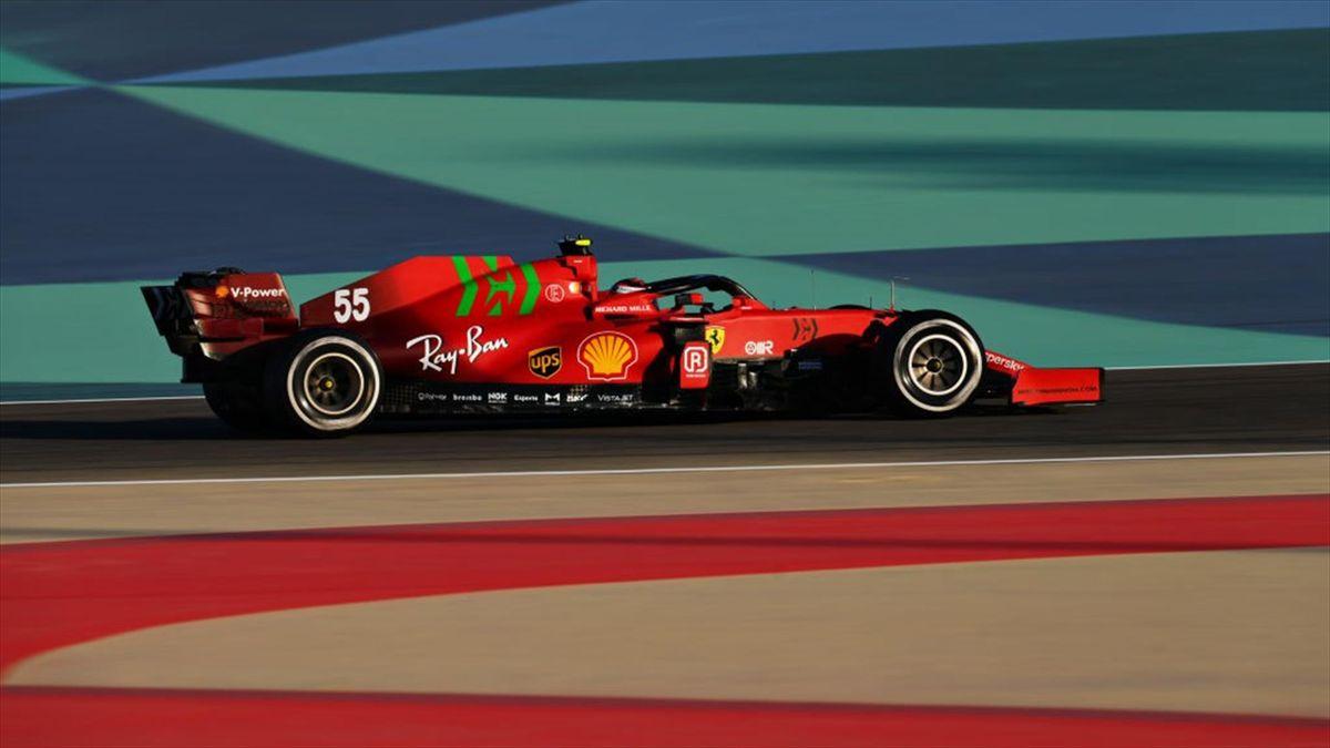La Ferrari SF21 di Carlos Sainz