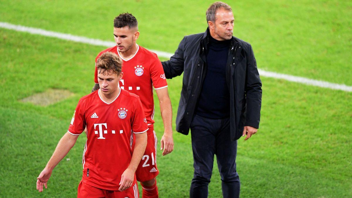 Bayern-Coach Flick mit Hernández und Kimmich