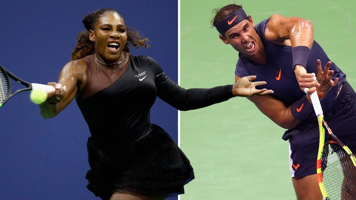 Serena Williams und Rafael Nadal bei den US Open
