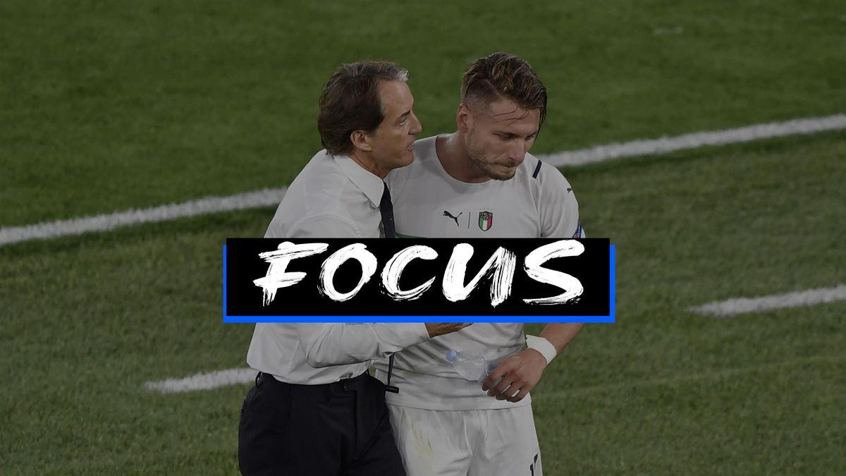 Roberto Mancini e Ciro Immobile