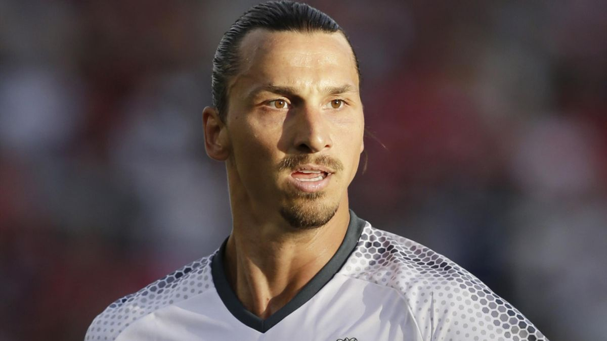 Zlatan Ibrahimovic in pre-season action for Manchester United
