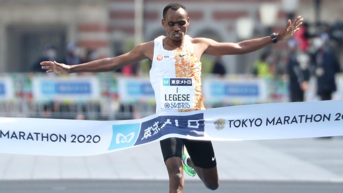 Birhanu Legese (Ethiopie) vainqueur du marathon de Tokyo 2020