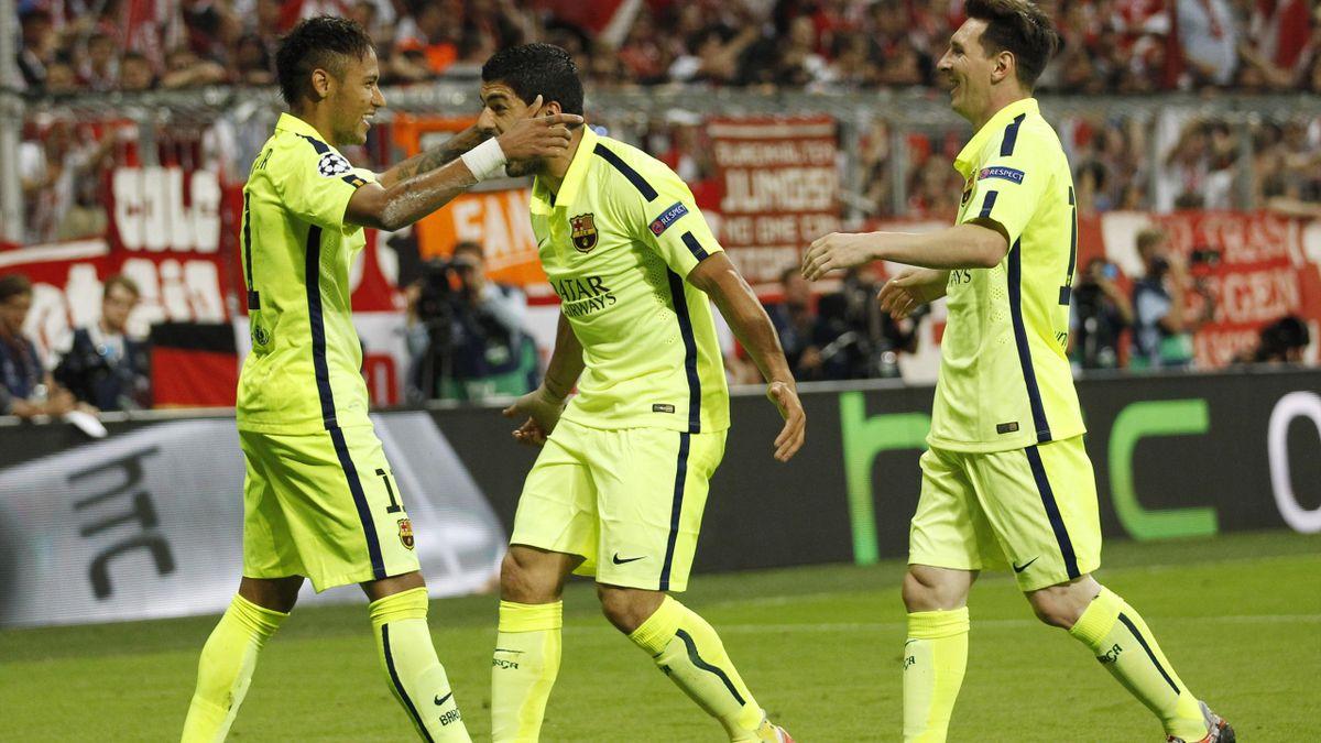 Лионель Месси, Луис Суарес и Неймар, «Барселона».