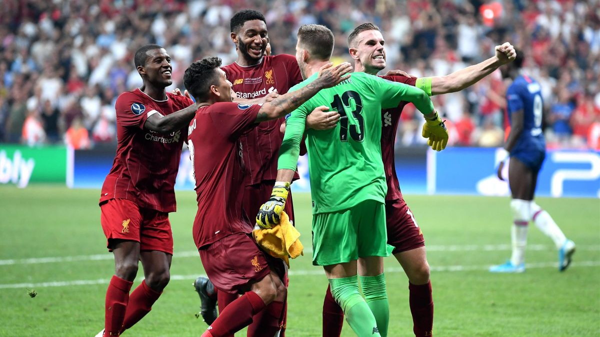 La joie de Liverpool lors de la Supercoupe d'Europe
