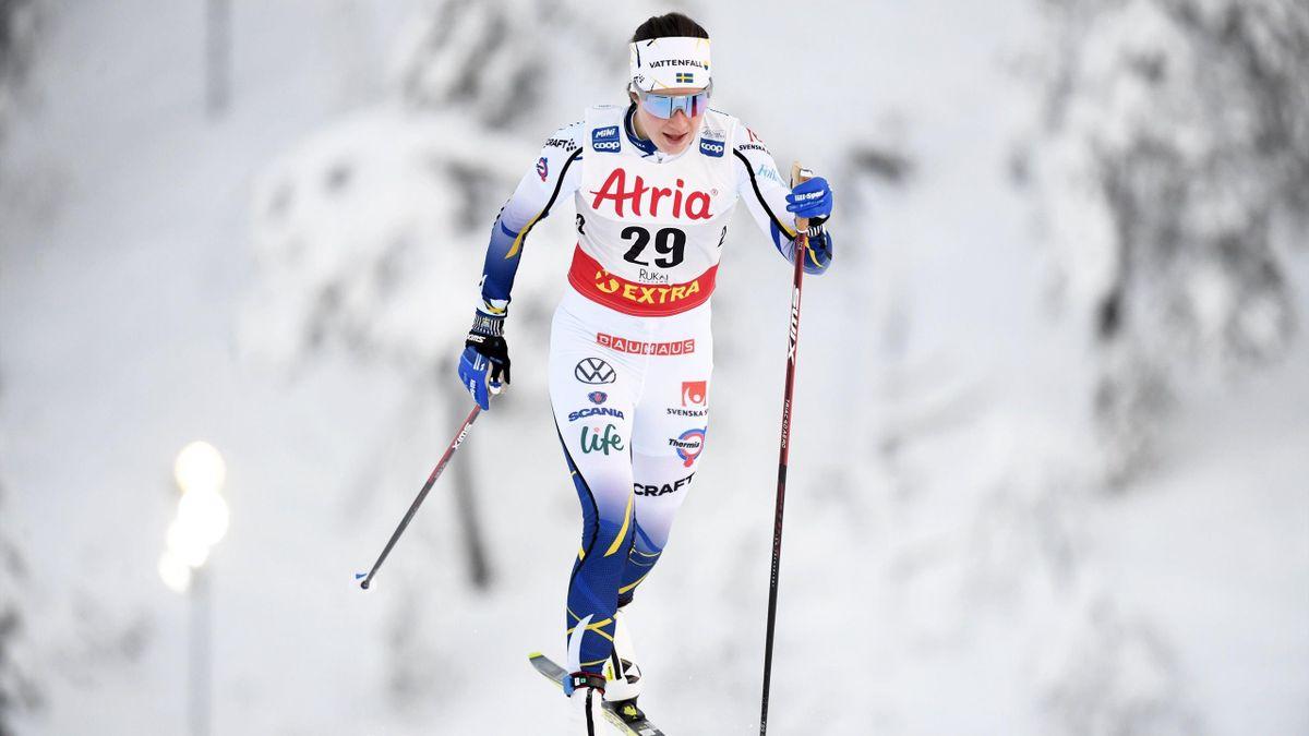 Ebba Andersson de l'équipe de Suède de ski de fond en 2020