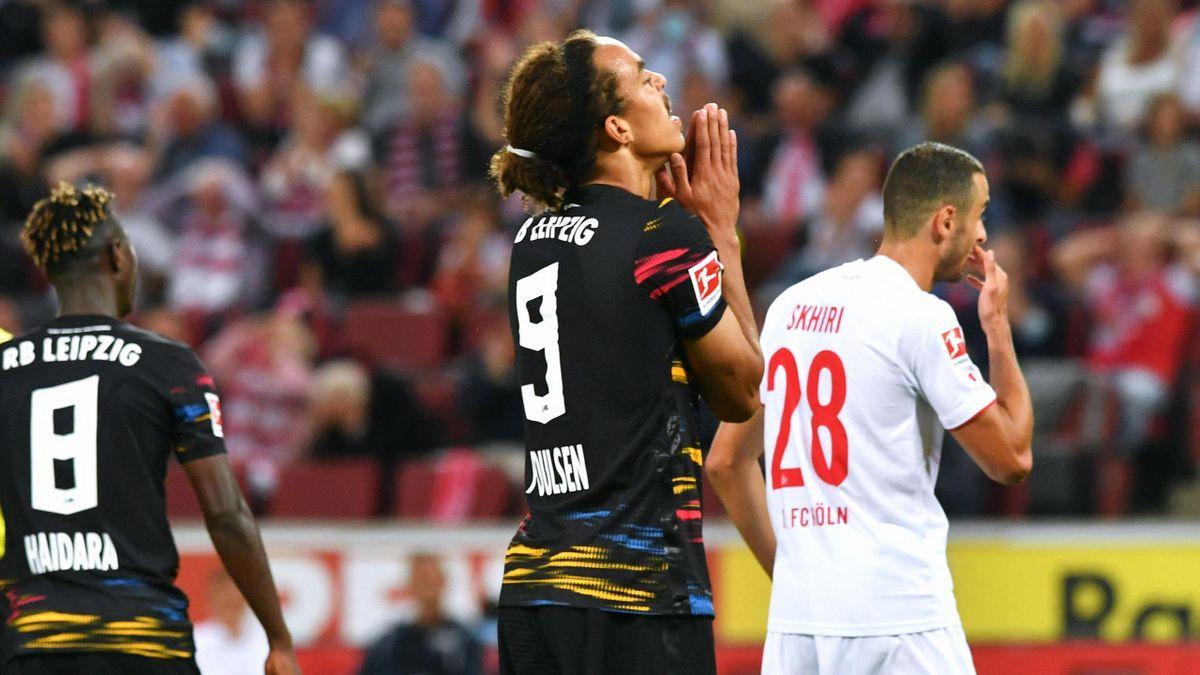 Nach dem Saisonstart hilft nur beten: Leipzigs Yusuff Poulsen (M.)