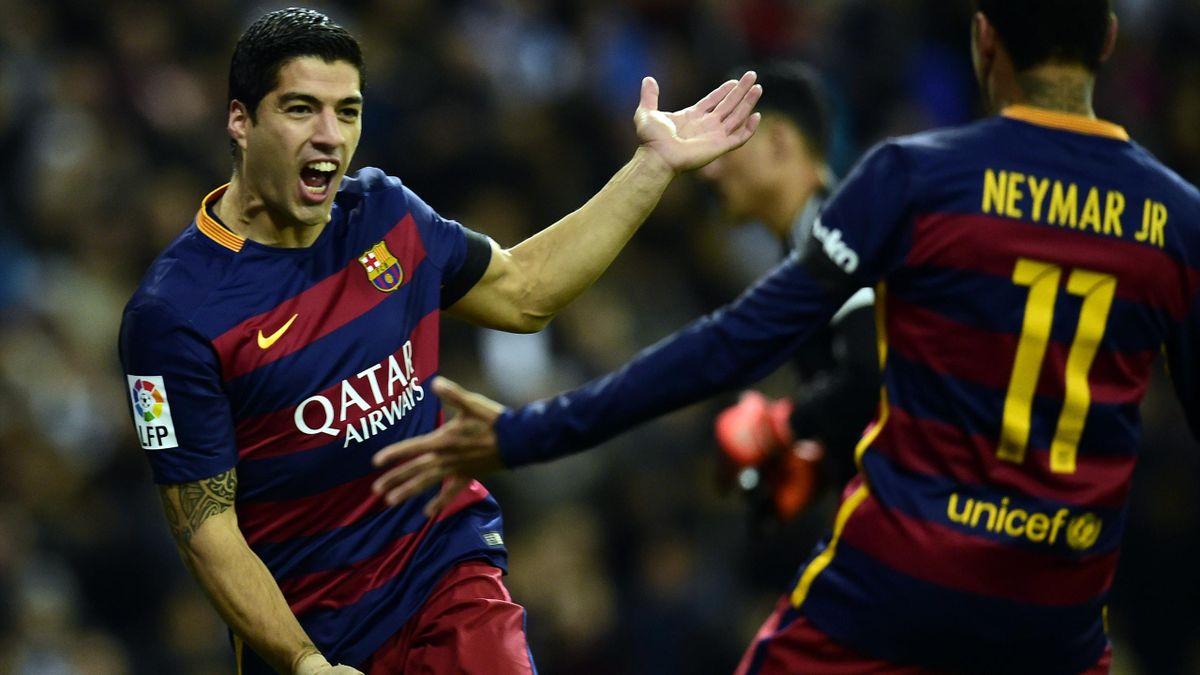 Luis Suarez et Neymar, les deux attaquants du Barça.