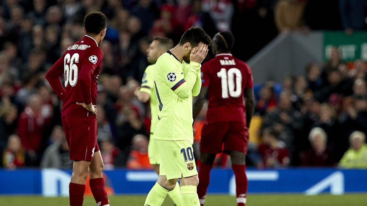 Lionel Messi după înfrângerea cu Liverpool