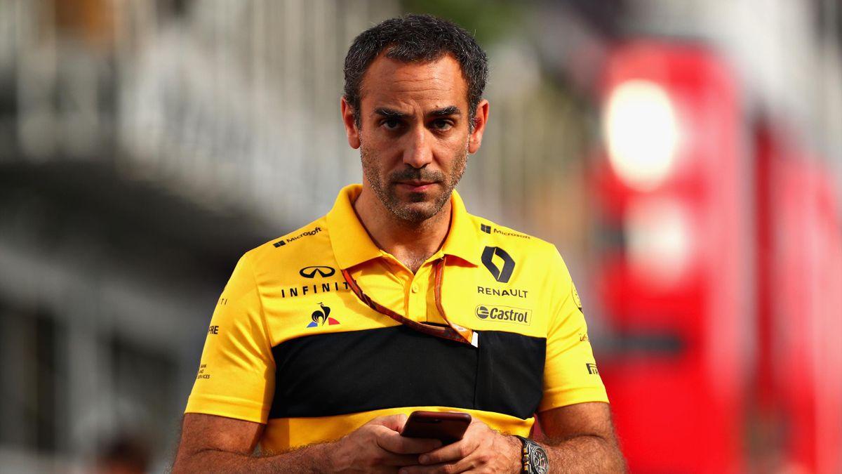 Cyril Abiteboul (Renault) au Grand Prix d'Allemagne 2018