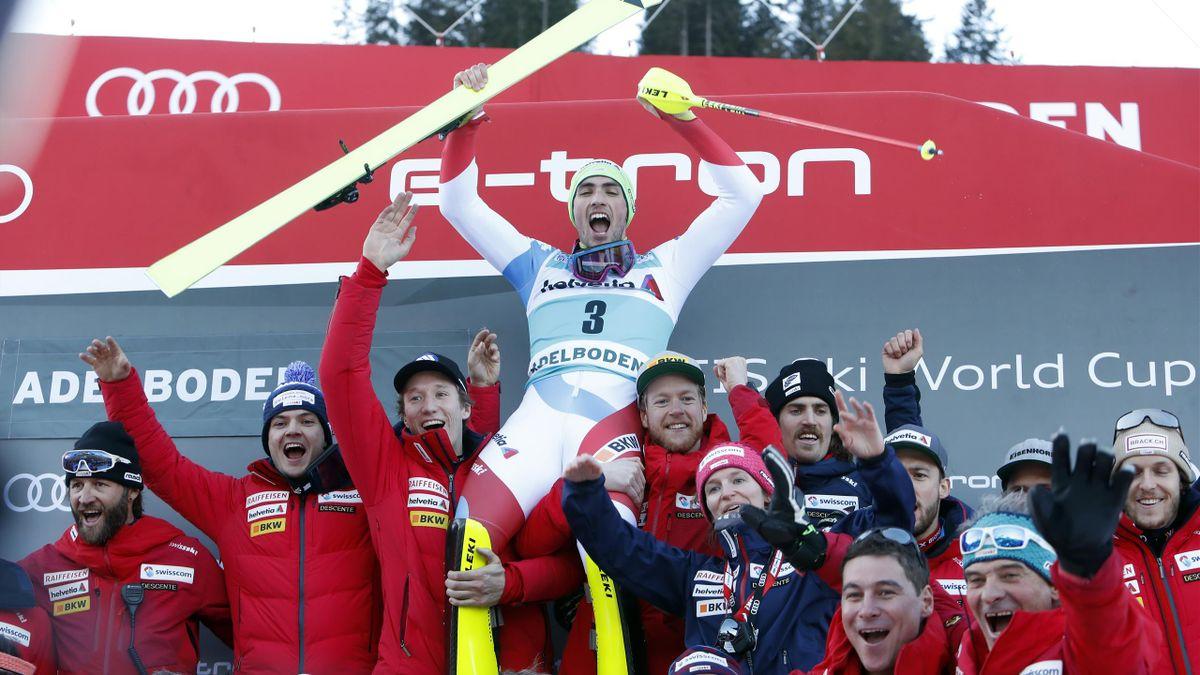 Dniel Yule Ends 13 Year Swiss Wait For Home Slalom Win In Dramatic Fashion Eurosport