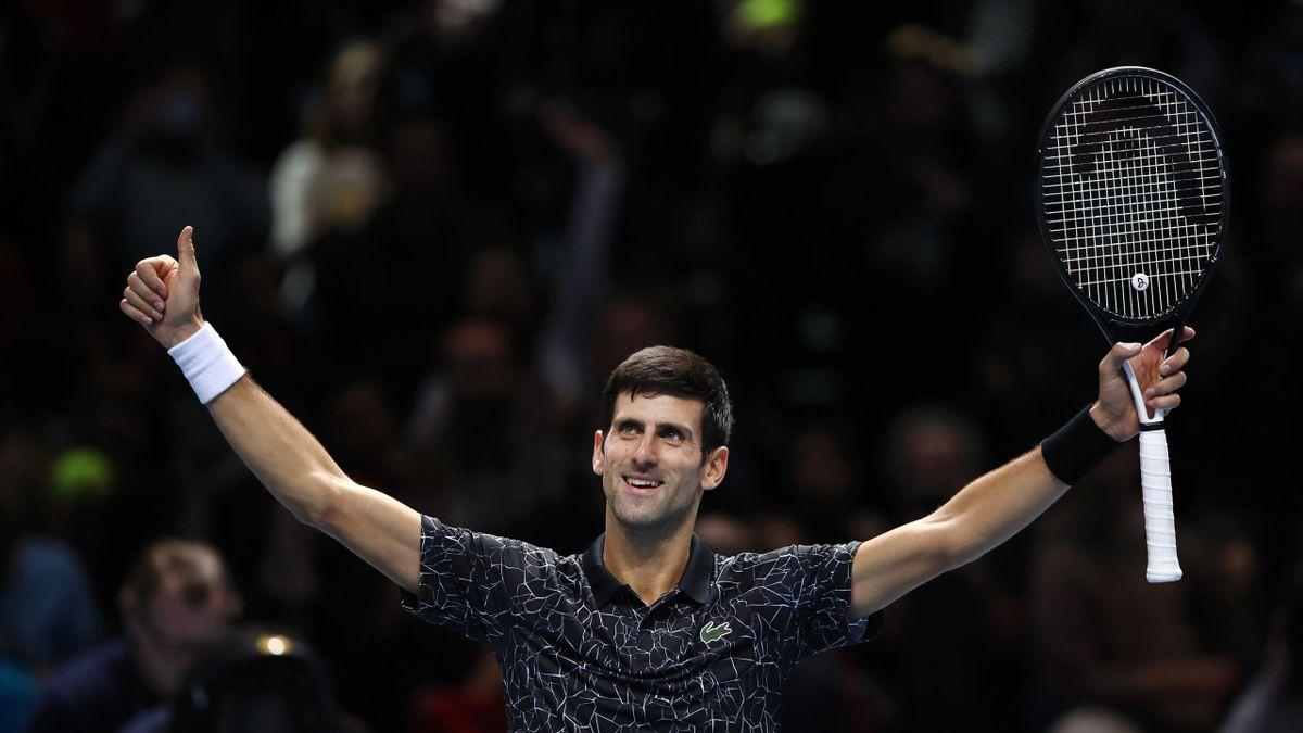 Novak Djokovic lors du Masters de Londres