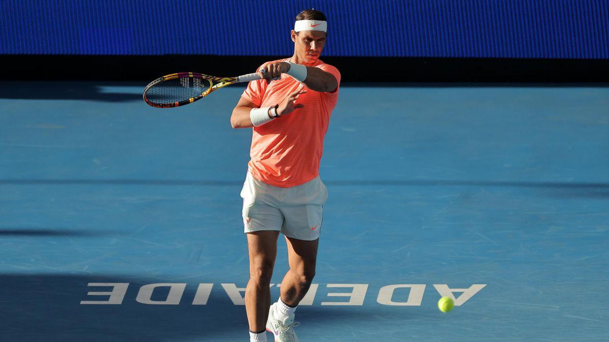 Rafael Nadal, torneo de exhibición de Adelaida y primer partido en 2021 previo al Open de Australia
