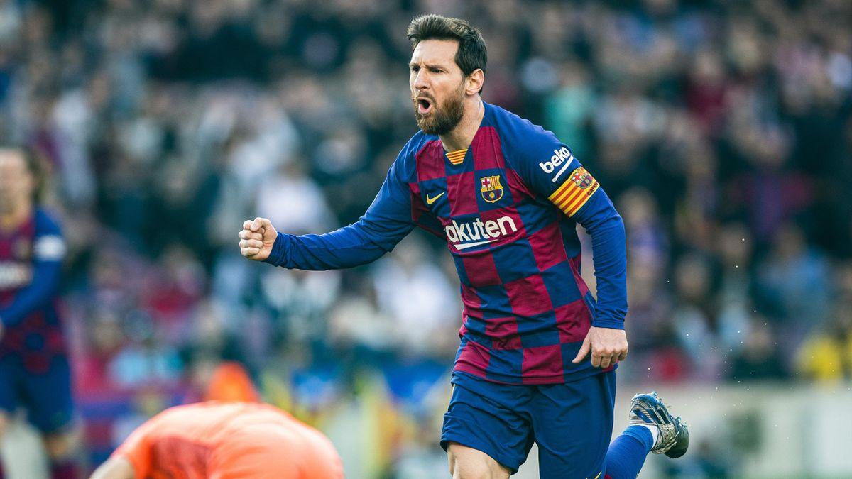 La joie de Lionel Messi, buteur contre Eibar, le 22 février 2020.