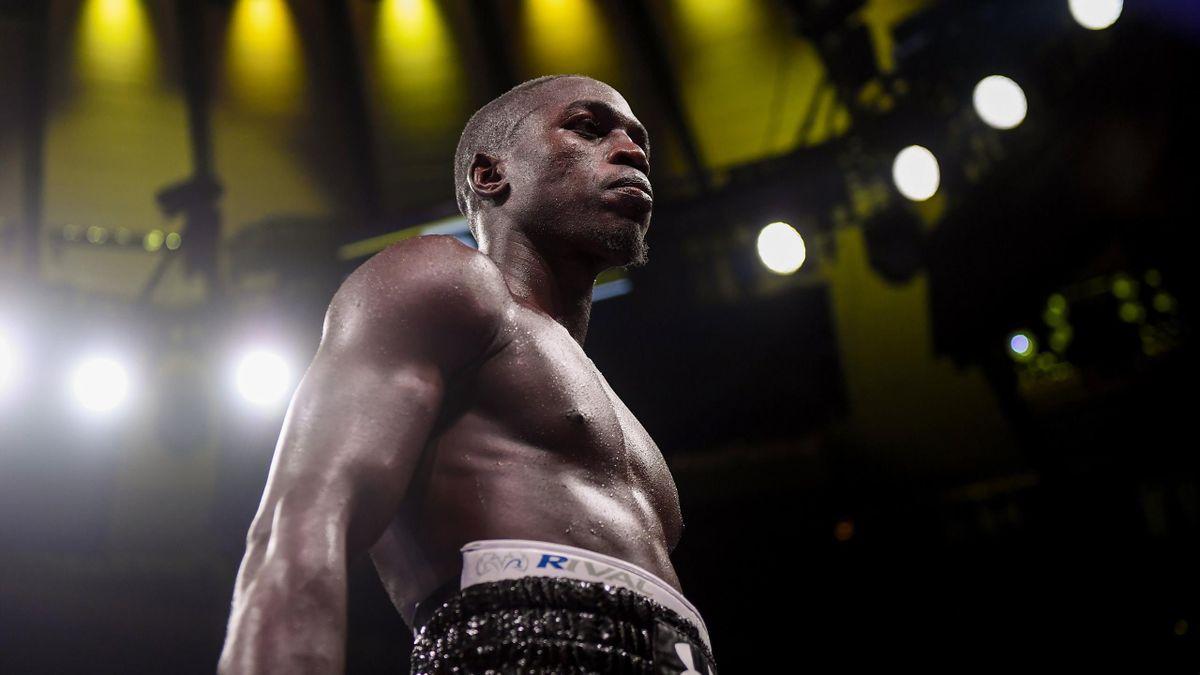 Souleymane Cissokho sur le ring du Madison Square Garden.