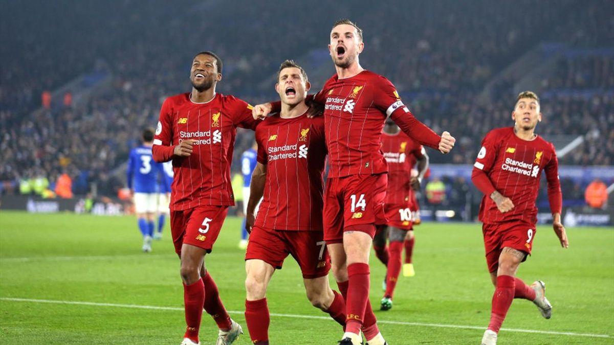 Womöglich können James Milner, Jordan Henderson und Georginio Wijnaldum vom FC Liverpool noch im Mai wieder vor Fans jubeln