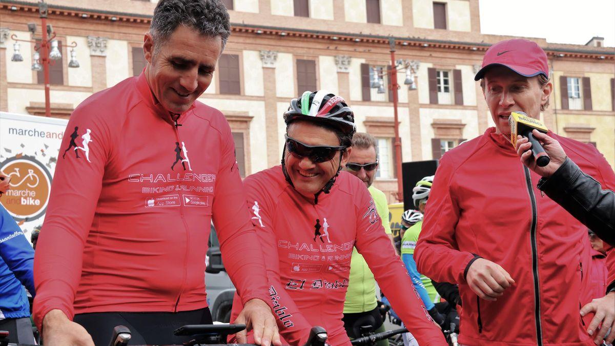 Miguel Indurain e Claudio Chiappucci, protagonisti della Challenger Biking Cup a Forlì