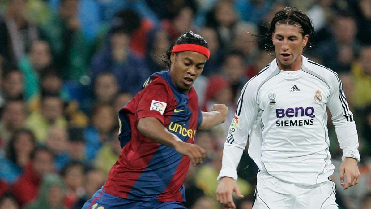 Ronaldinho y Sergio Ramos