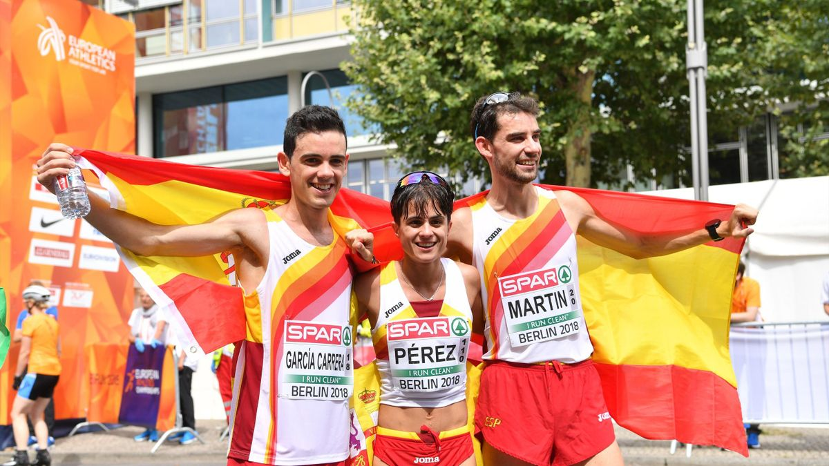 Triplete español 20 kilómetros marcha