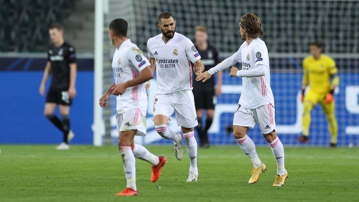 Karim Benzema (Real Madrid), buteur face à Mönchengladbach